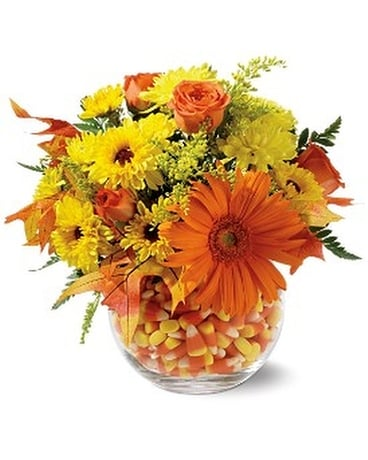 Sweet Autumn Flower Arrangement