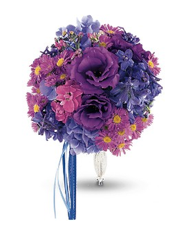 Violet Spectrum Nosegay Flower Arrangement