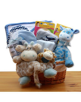 Jungle Safari Blue Gift Basket