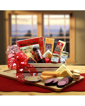 Valentine's Signature Sausage Crate Gift Basket