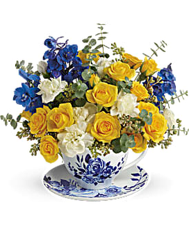 Pretty Teatime Flower Arrangement