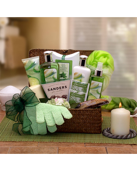 Serenity Spa Cucumber & Melon Gift Chest Gift Basket