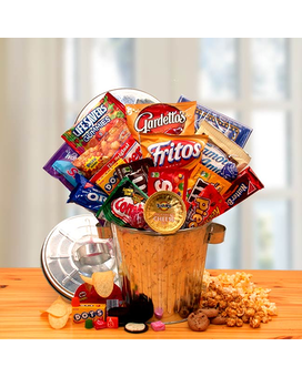 Snack Survival Gift Can Gift Basket