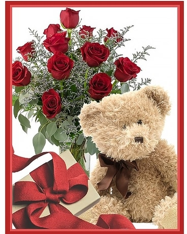 Valentine Package Large Flower Arrangement