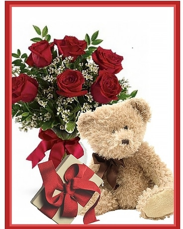 Valentine Package Medium Flower Arrangement