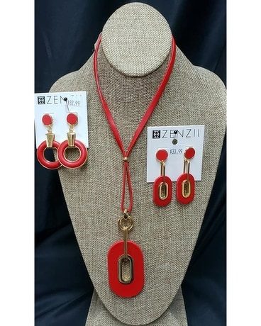 ZENZII Adjustable Modern Red Necklace Gifts
