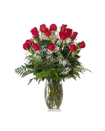Two Dozen Roses Flower Arrangement