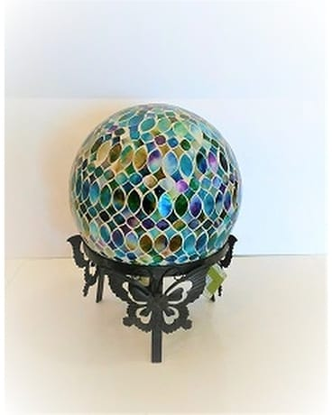 MOSIAC COLORFUL CUT GLASS GAZING BALL Custom product