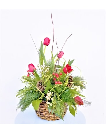 Country Christmas Flower Arrangement