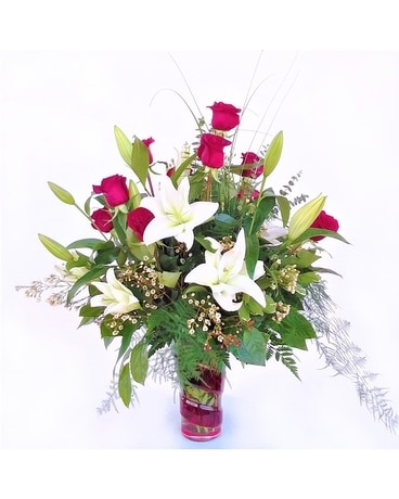 Lavish LilyRose Flower Arrangement