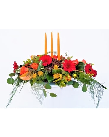 Fall Designer's Choice - Long & Low Centerpiece