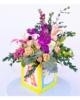 Baby Block Flower Arrangement