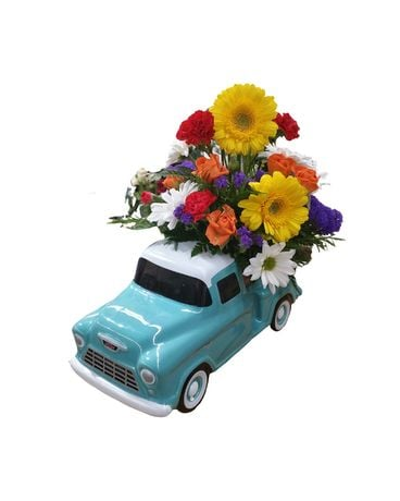 Chevy Pick Up Flower Arrangement