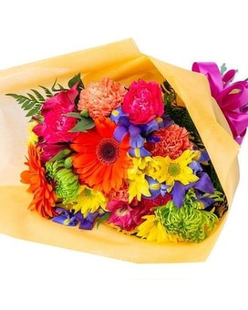 Bold and Bright Cut Flowers Bouquet