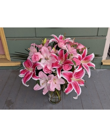 Pink Lilies Supreme Flower Arrangement