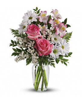 What a Treat Bouquet with Roses Flower Arrangement