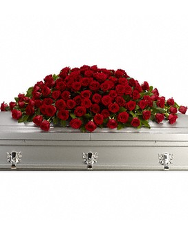 Greatest Love Casket Spray Flower Arrangement