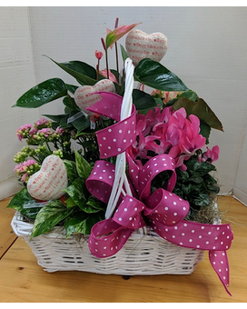 Love in Bloom Basket Arrangement