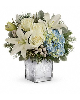 Teleflora's Silver Snow Bouquet Flower Arrangement