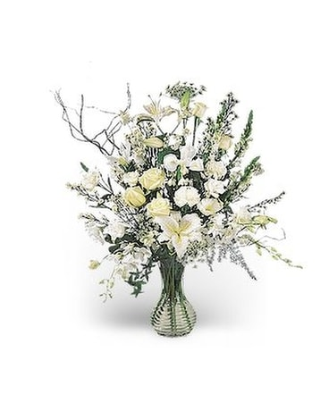 Rhapsody in White Flower Arrangement