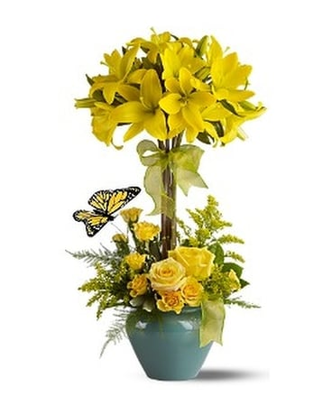 Lily Topiary Deluxe Flower Arrangement