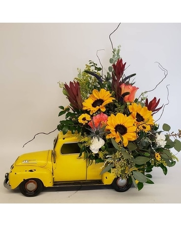 Truckin' On Flower Arrangement