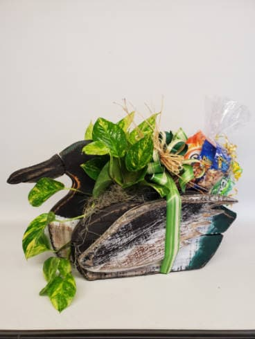 Duck Planter Snack Basket Plant