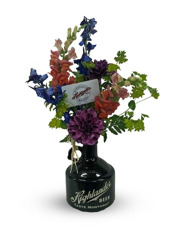 Locally Brewed Flower Arrangement
