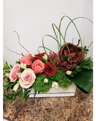 Rustic Ambience Flower Arrangement