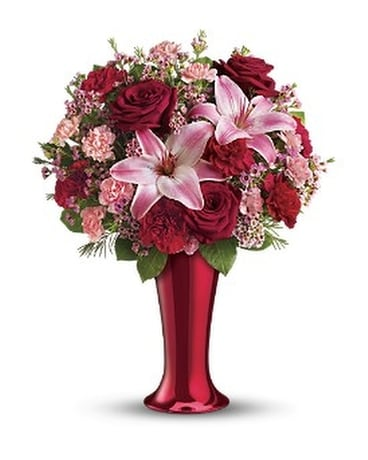 Red Hot Bouquet Flower Arrangement