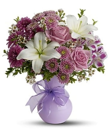 Teleflora's Precious in Purple Flower Arrangement