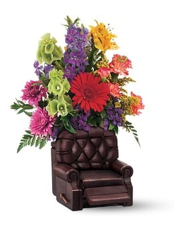 Teleflora's Barcalounger Bouquet Flower Arrangement