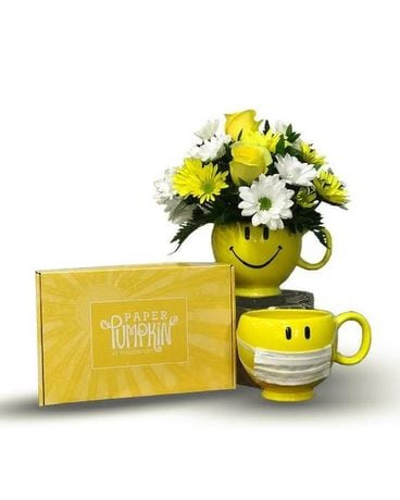 Be Happy Box of Sunshine & Smiles Flower Arrangement