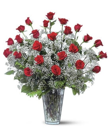 Field of Roses - by Ollie's Flowers Inc. Flower Arrangement