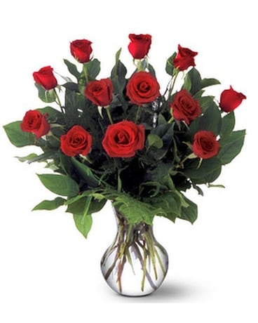 A Dozen Premium Red Roses - by Ollie's Flowers Inc Flower Arrangement