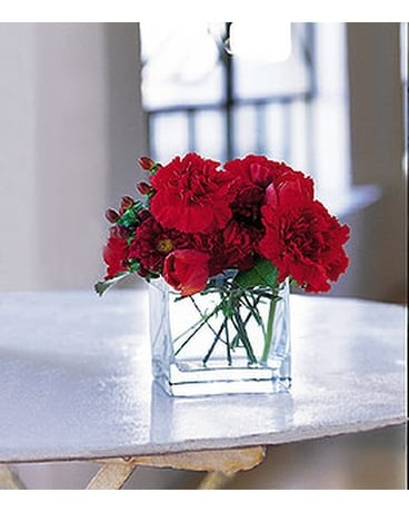 Passionate Reds - by Ollie's Flowers Inc. Flower Arrangement