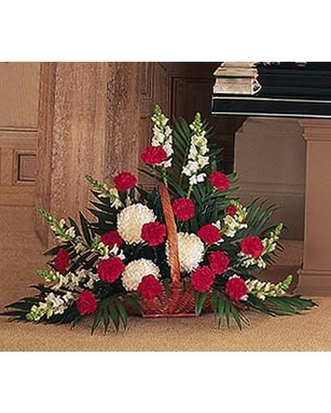 Cherished Moments Fireside Basket - by Ollie's Flo Flower Arrangement