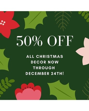 50% Off All Christmas - In House Wreath