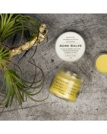 Simplified Essential Oil Acne Salve Flower Arrangement