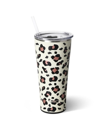 Swig Leopard 32oz Tumbler Flower Arrangement