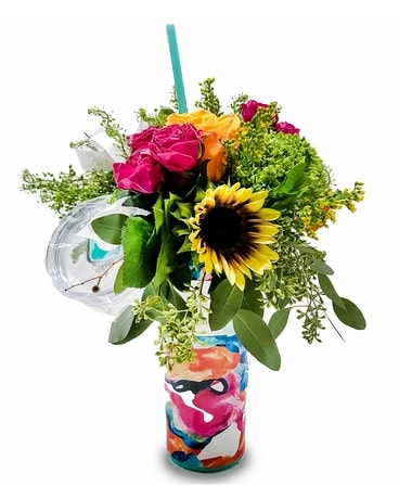 Swig Cup Flower Arrangement Bright & Colorful 32oz