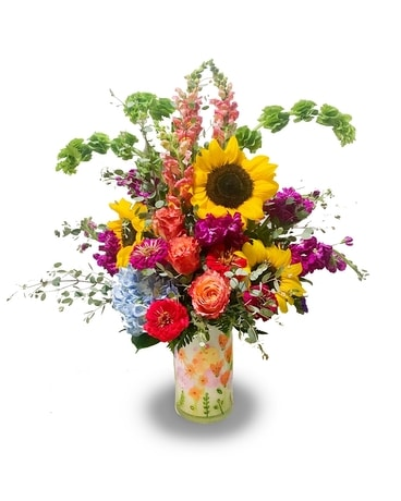 Tall & Showy Bright Colorful Mixed Bouquet Flower Arrangement