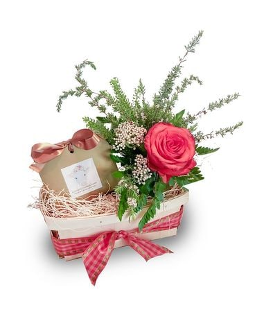 Gift Card Arrangement Basket Flower Arrangement