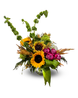 High Style Bright Fall Mixed Arrangement
