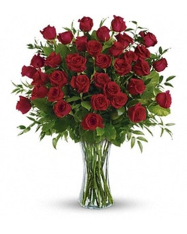 Breathtaking Beauty - 3 Dozen Long Stemmed Roses Flower Arrangement
