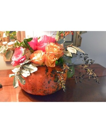 Blush Pumpkin Bouquet Flower Arrangement