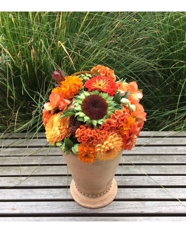 Rustic Fall Flower Arrangement