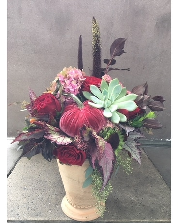 Blushing Autumn Flower Arrangement
