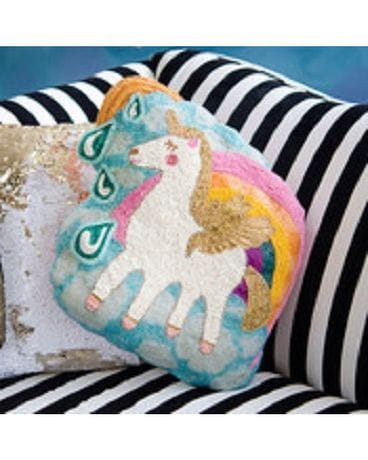 Glitterville Unicorn beaded Pillow Gifts