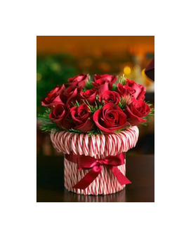 Candy Cane Joy Bouquet Flower Arrangement